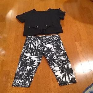 Fabletics Outfit. Shirt Size S.  Capris Size M.